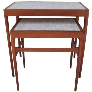 Illums Bolighus Tile-Top Nesting Tables - A Pair