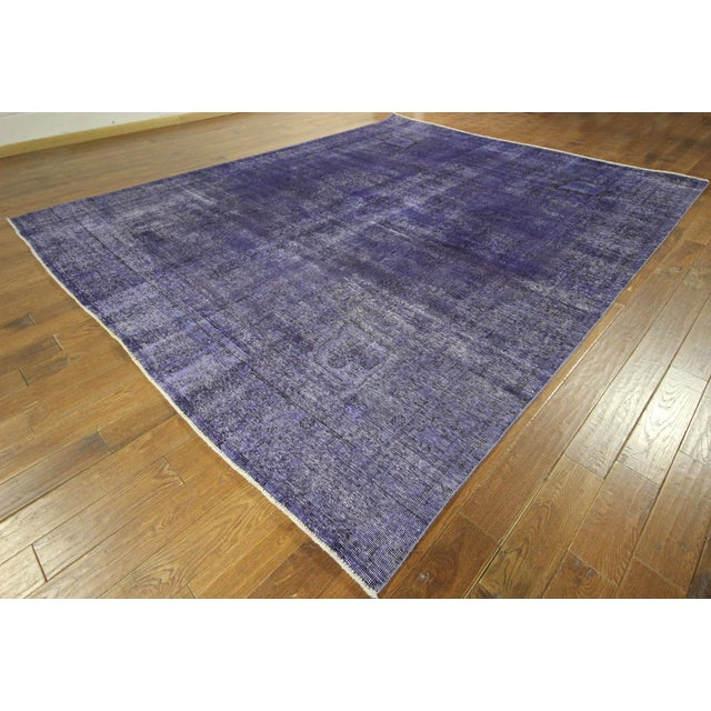 "Purple Overdyed Oriental Rug - 10' 1"" x 12' 1"" - Image 2 of 10"