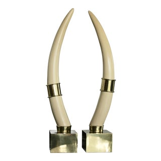 Brass Mounted Faux Tusks by Chapman