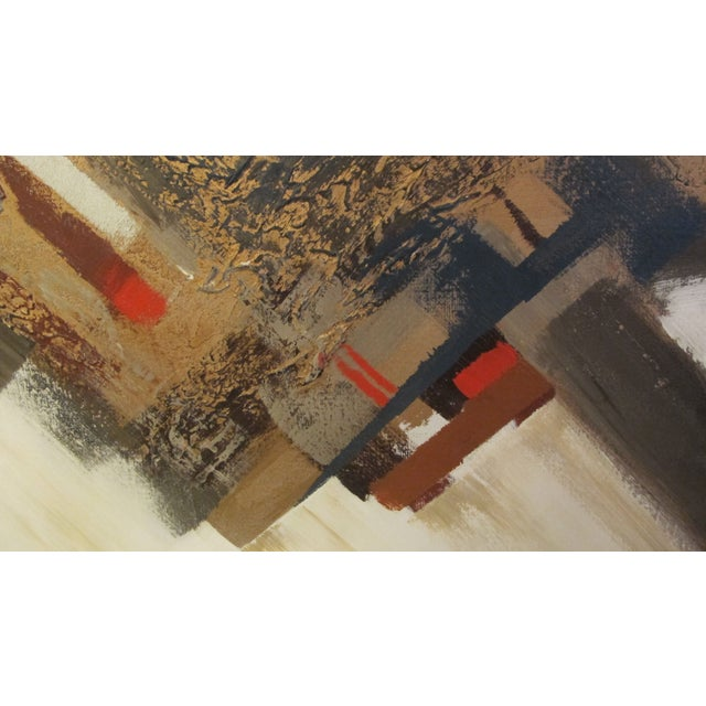 1970s Listed Artist Lee Reynolds Abstract Painting - Image 4 of 6