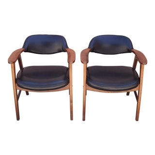 Vintage Danish Modern Club Chairs- A Pair