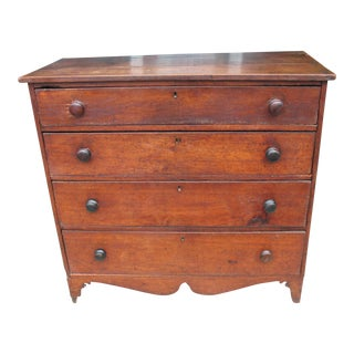 19th Century 4 Drawer Mahogany Chest