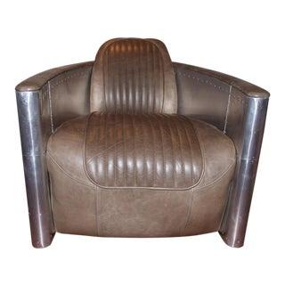 Restoration Hardware Aviator Swivel Chair