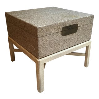 1980s Marge Carson Hollywood Regency Trunk Table