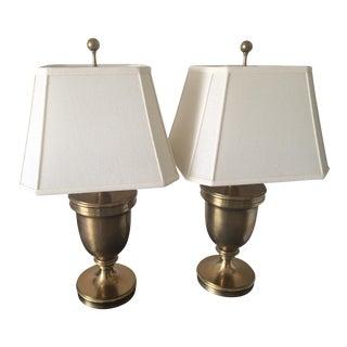 William Sonoma Metal Urn Lamps - A Pair