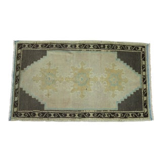 Turkish Oushak Rug - 1′8″ × 2′9″