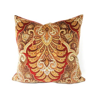 Italian Velvet Paisley Pillows - A Pair