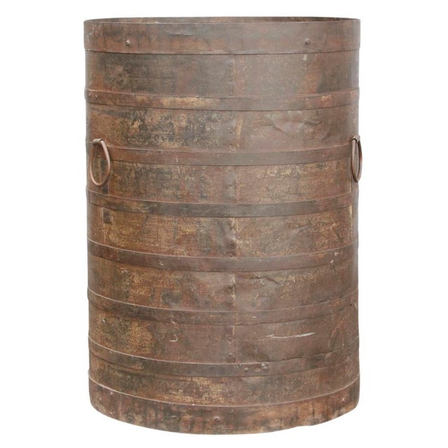 Handcrafted Iron Barrel - Image 2 of 4
