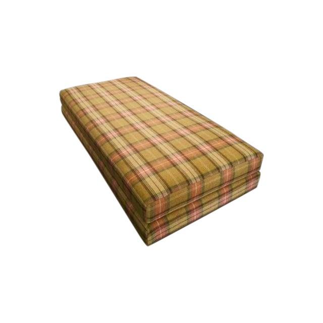 Mid century style tartan ottoman day bed chairish for Mid century style bed