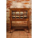 Image of Arts & Crafts Chocolate Cabinet with Beveled Glass