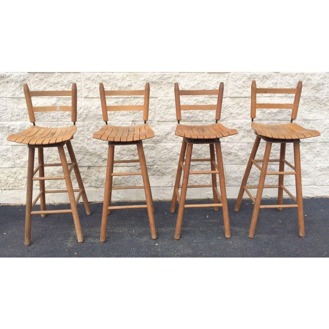 Arthur Umanoff Type Mid-Century Modern Bar Stools - Set of 4 - Image 2 of 6