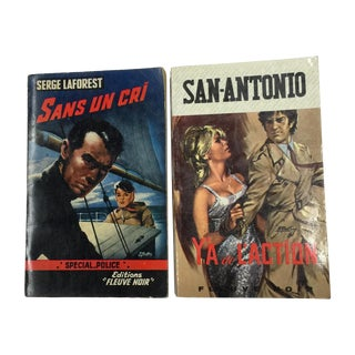 Vintage French Thrillers, Police 1960s - Pair