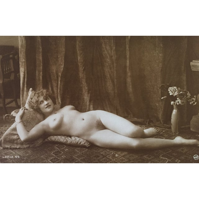Antique French Art Deco Nude Photograph - Image 1 of 3