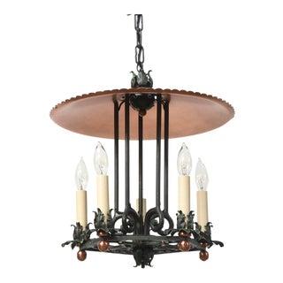 Copper and Verdigris Five Light Open Lantern