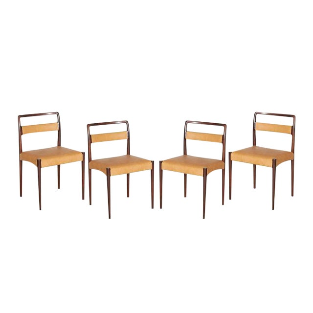 Danish Rosewood Dining Chairs - Set of 4 - Image 1 of 8