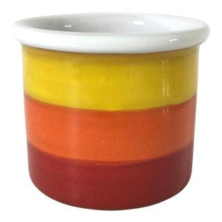 Mid-Century Ceramic Striped Jar