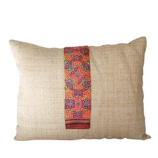 Vintage Hmong Hemp Accent Pillow