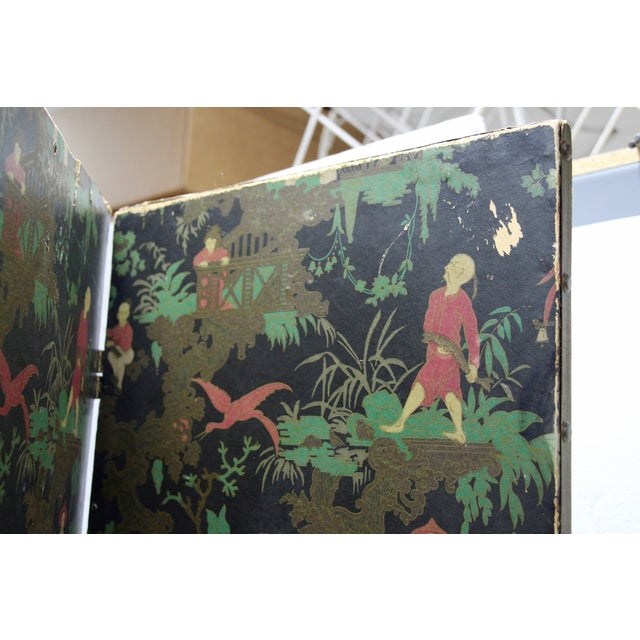 Antique Chinoiserie Folding Floor Screen - Image 7 of 8