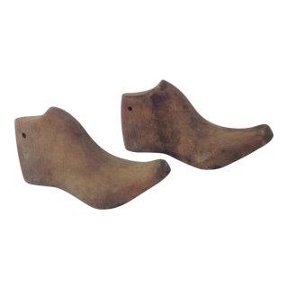 Antique Wood Shoe Molds - A Pair