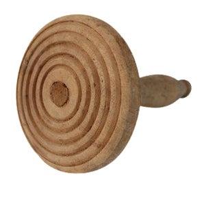 Antique Primitive Wooden Kitchen Round Butter Cookie Press Stamp