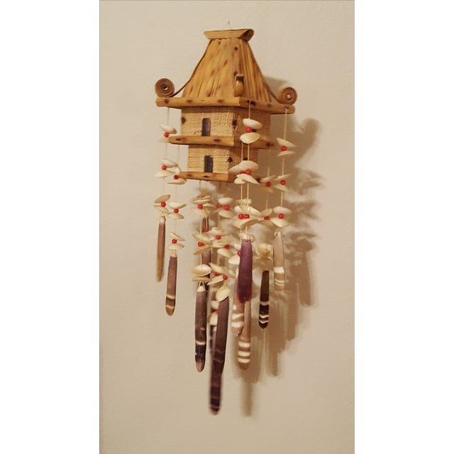 Oriental Pagoda with Sea Shell Chimes - Image 3 of 7