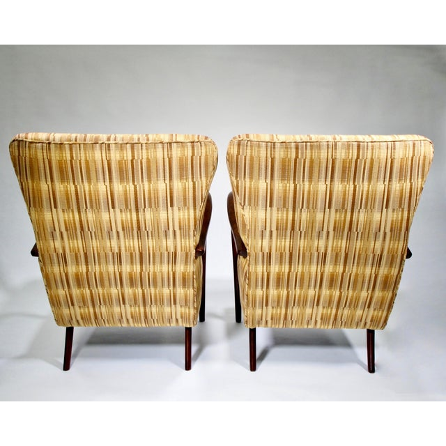 Italian Mid-Century High Back Chairs - A Pair - Image 10 of 10