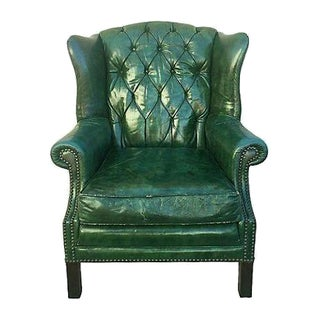 Tufted Leather Wingback Chair