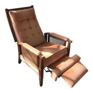 Mid-Century Cane Reclining Chair