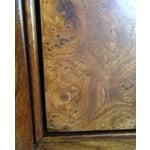 Image of Baker Walnut End Tables W/ Burl Drawers - A Pair