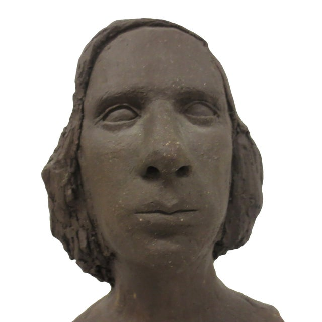Image of Terracotta Bust of Young Woman