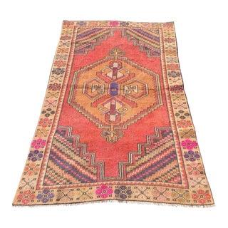 Vintage Anatolian Rug - 3′4″ × 5′7″