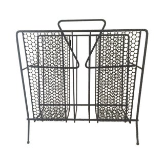 Vintage Atomic Wire Mesh Magazine Rack