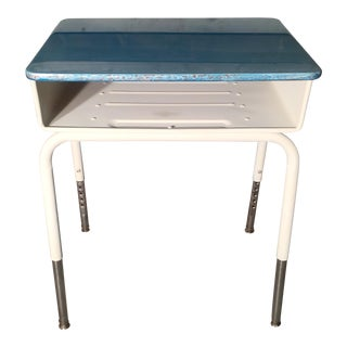 Blue Resin and White Desk