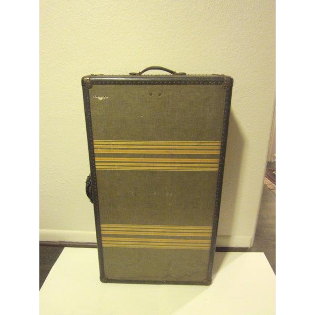 Image of Vintage 1930s Petite Tweed Steamer Trunk