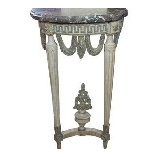 Louis XVI Style Demi Lune Console