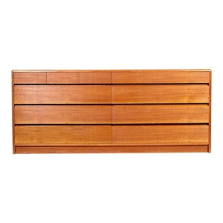 1970s Danish Teak Dresser with 10 Drawers