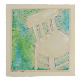"""Softer Side"" Monoprint on Tissue"