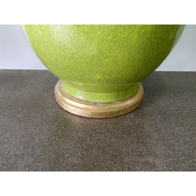 Image of Green Crackled Table Lamp