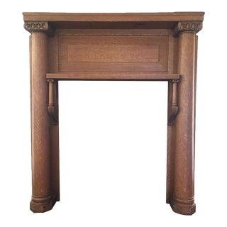Antique Oak Fireplace Mantel