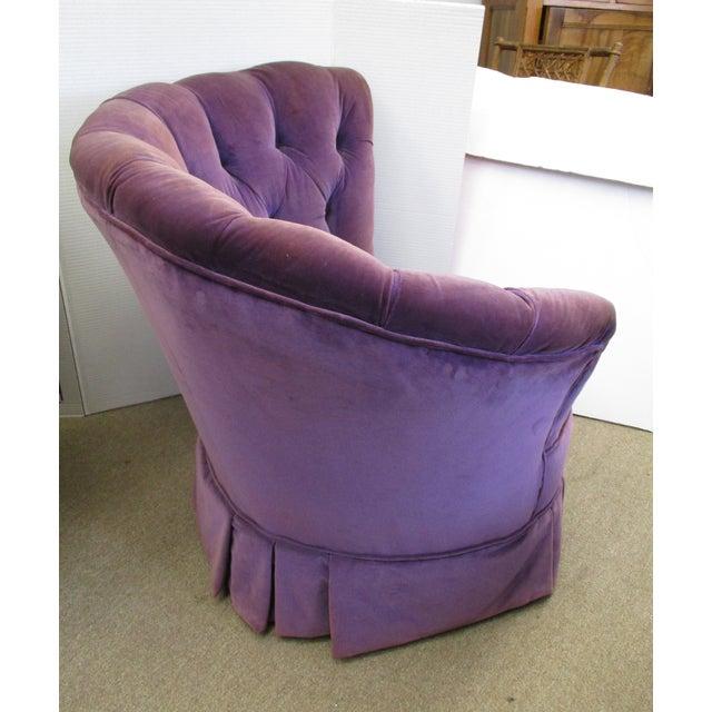 Purple Velvet Nautilus Chairs - Pair - Image 6 of 6