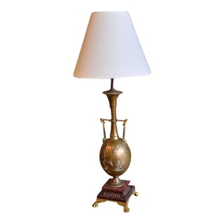 19th Century French Brass Lamp by Henry Cahieux