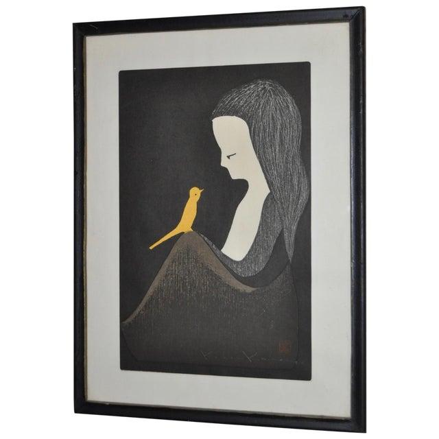 Image of Kaoru Kawano Woodblock Print C.1950s