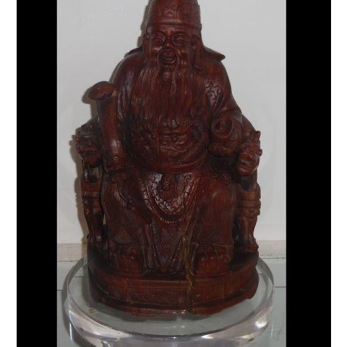 Buy Antique Handcrafted Buddha Lantern For Corporate: Antique Chinese Carved Buddha Sculpture- Designer Lamp