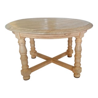Rustic Round Dining Table With Leaf