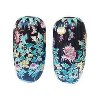Chrysanthemum Floor Vase - A Pair