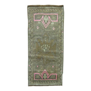 Vintage Turkish Yastik Rug, 1'9'' x 3'7''