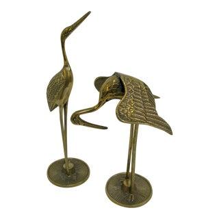 C.1970 Mid-Century Modern Brass Cranes - A Pair