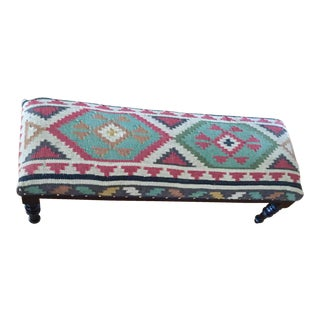 Boho Tribal Kilim Bench