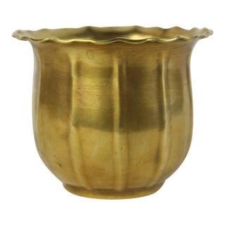 Scalloped Brass Bowl or Vase