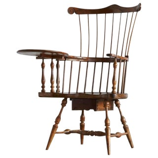 Antique Comb-Back Writing Arm Windsor Chair